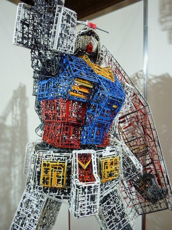 10-Foot Gundam Made of Plastic Model Leftovers