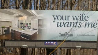 "Dumbass Company Posts Billboard of Kitchen With ""Your Wife Wants Me"""