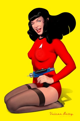 Decorate Your Desktop with a Vulcan Pinup Hottie