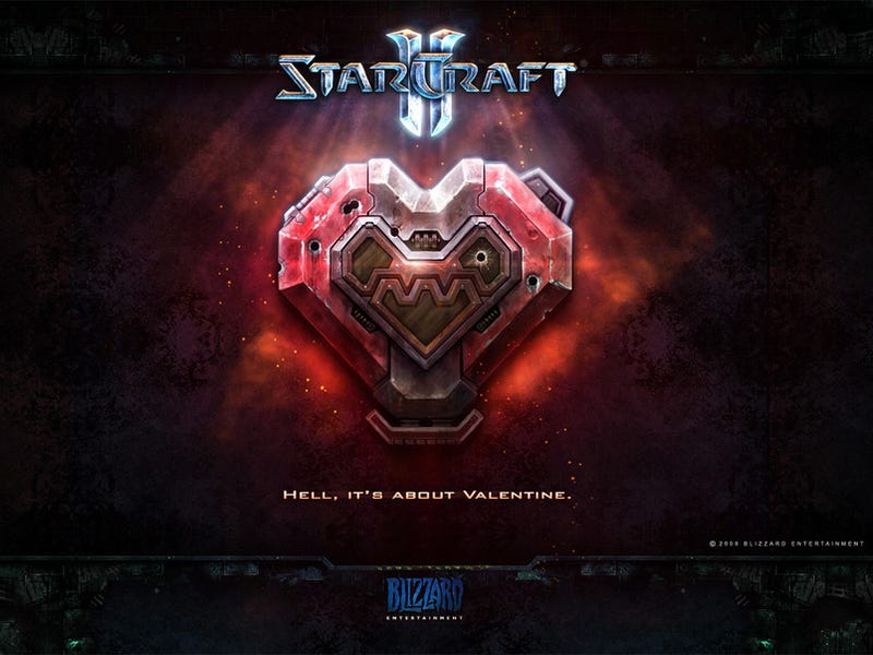 StarCraft II Valentine's Cards