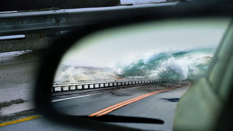 How to drive away from a tsunami