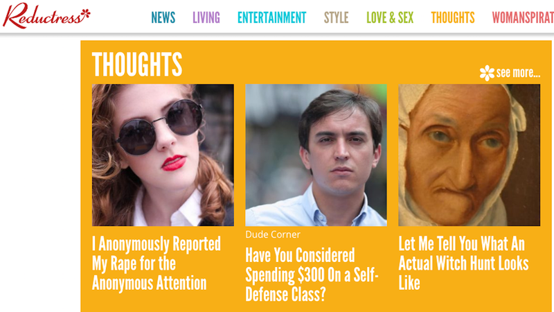 Reductress Is Devoting Its Entire Site to Rape Jokes That Punch Up