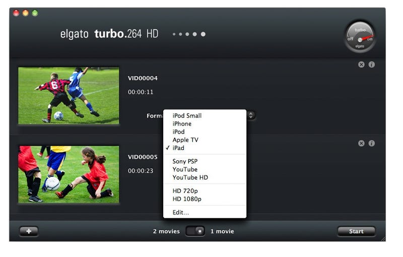 Elgato Turbo.264 HD Makes Converting Video For iPads and iPhones Super Simple