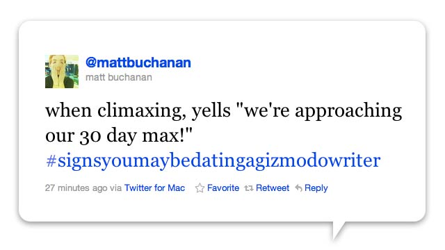 Top Signs You're on a Date With a Gizmodo Writer