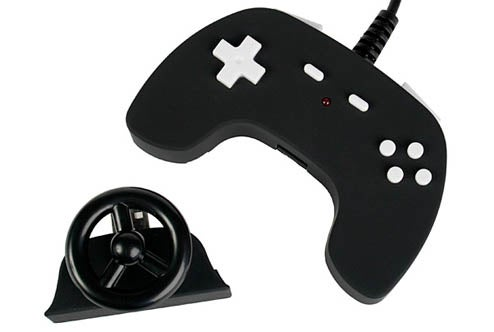 M.A.D. Gamepad Features Tiny, Detachable Steering Wheel