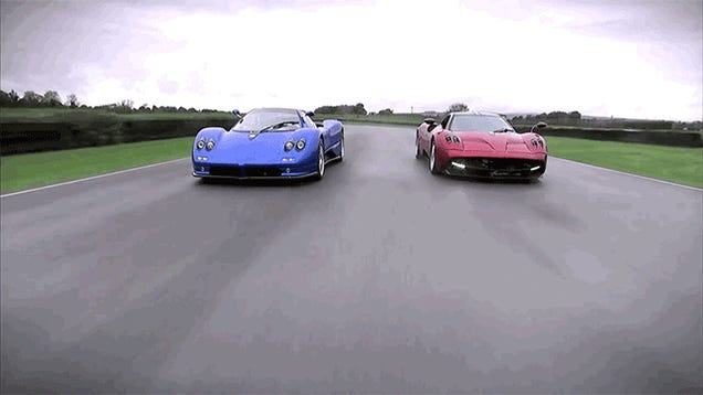The First Ever Comparison Of The Pagani Huayra And Zonda Is So Awesome