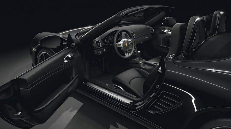 Porsche Boxster S gets put under a Black light