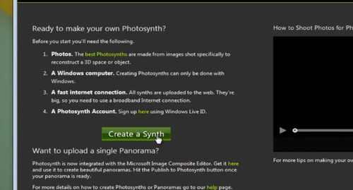 How to Create Your Own Photosynths