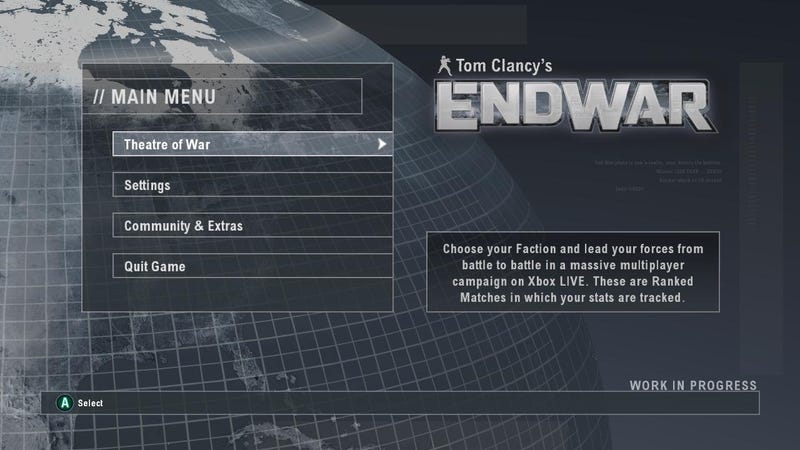 EndWar Private Beta Invites Going Out