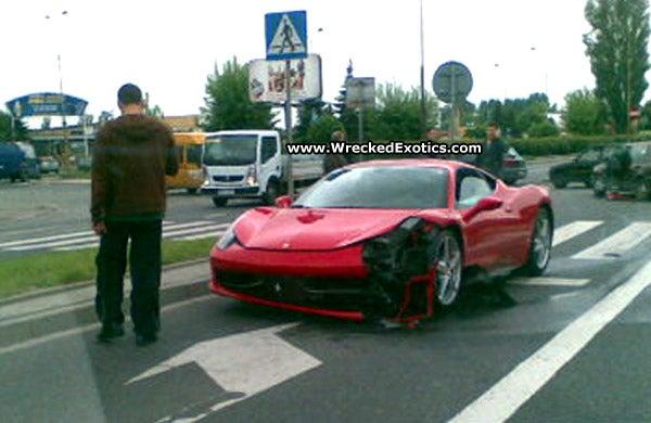 First Ferrari 458 Italia Crash In Poland