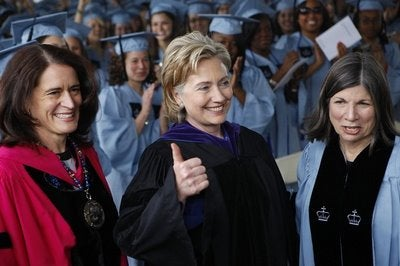 "Clinton Focuses On Women's Rights In Graduation Speech • Child ""Breastfeeding"" Her Doll Causes Parents To Panic"