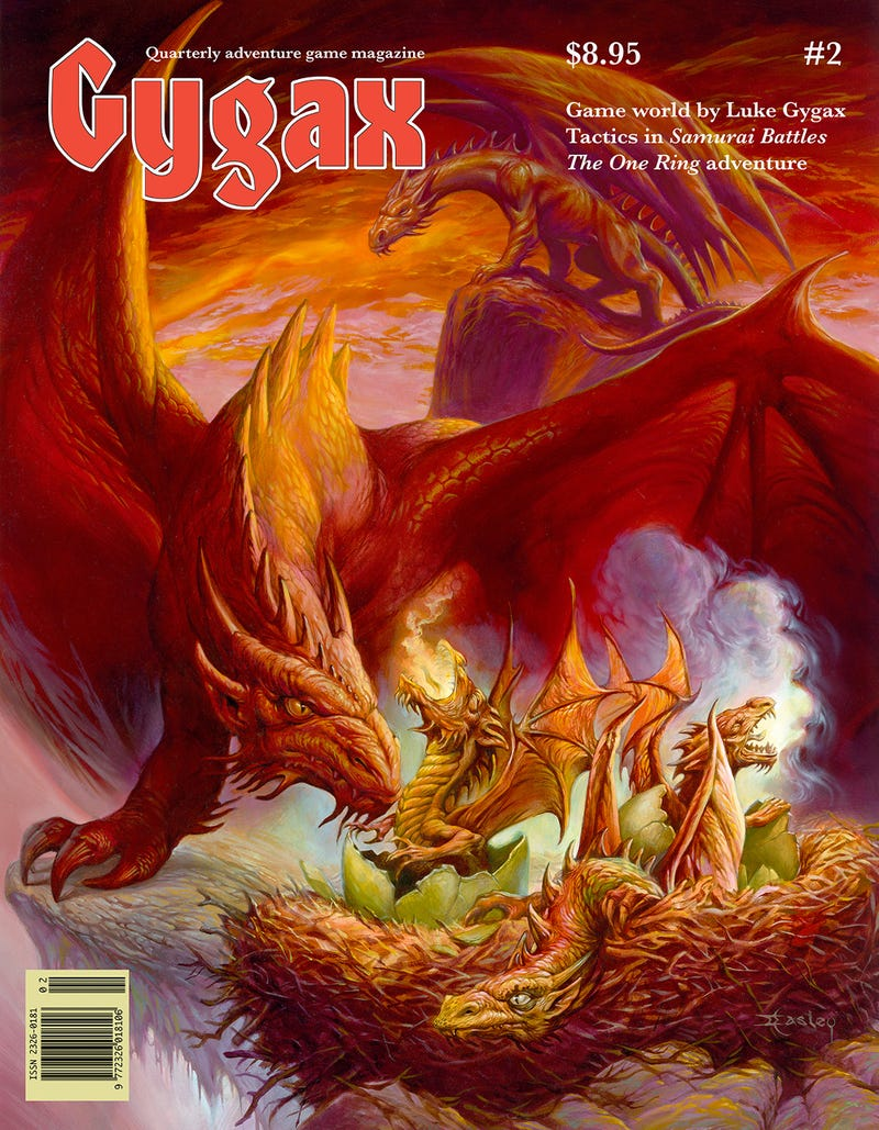 Take a look at the killer RPG action coming in Gygax Magazine #2