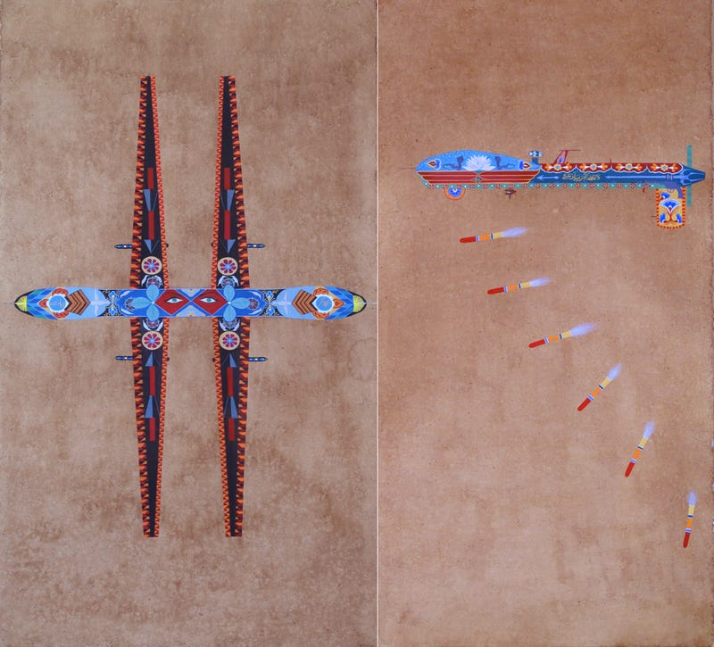 Pakistani Folk Art and US Drones Collide in These Ornate Paintings