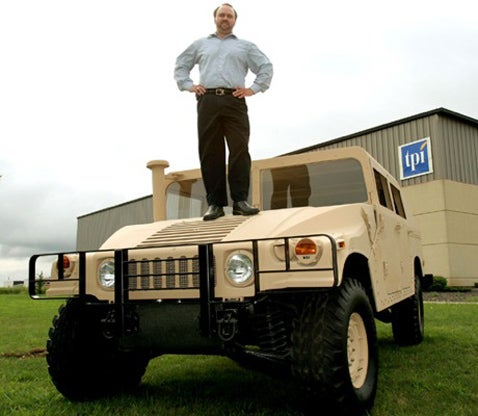 Army Builds Foam and Woodchip Humvee