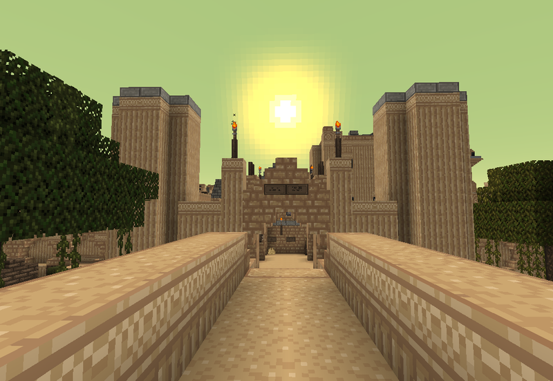 Huge Minecraft Desert City Was Built By One Player Over 20 Months