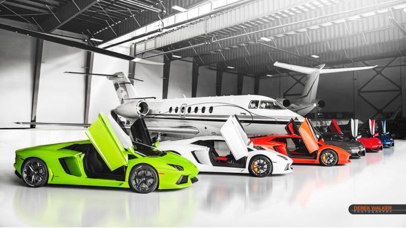 Six Aventadors: Hexventador