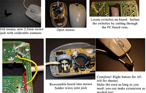 Turn an Old Mouse into a Remote Camera Shutter Release