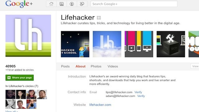 Add Lifehacker and Our Writers to Your Circles at Google+ for Top Stories and Conversation