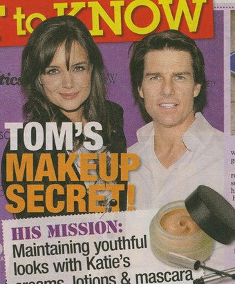 Tom Cruise Keeps Stealing Katie Holmes' Makeup, and Other Nuisances