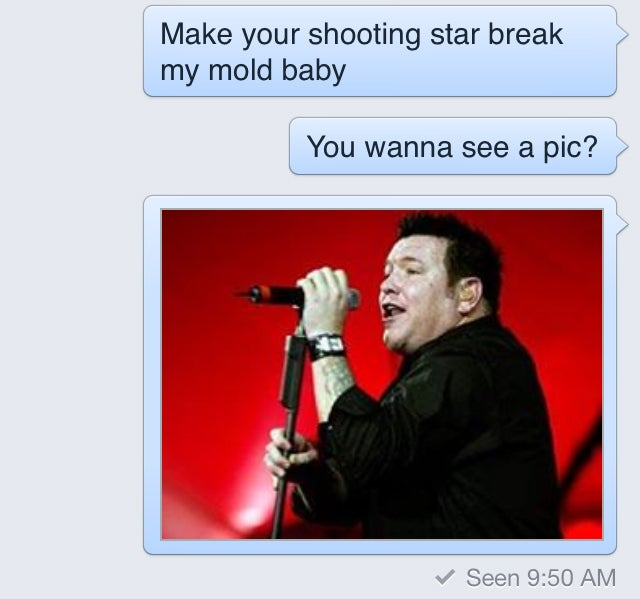 "Creepy Facebook Sexts Skillfully Deflected by Smash Mouth's ""All-Star"""