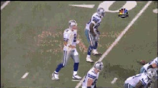 We Could Watch Tony Romo Take A Snap To The Gut Over And Over Again