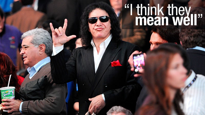 Gene Simmons on His Anonymous Foes