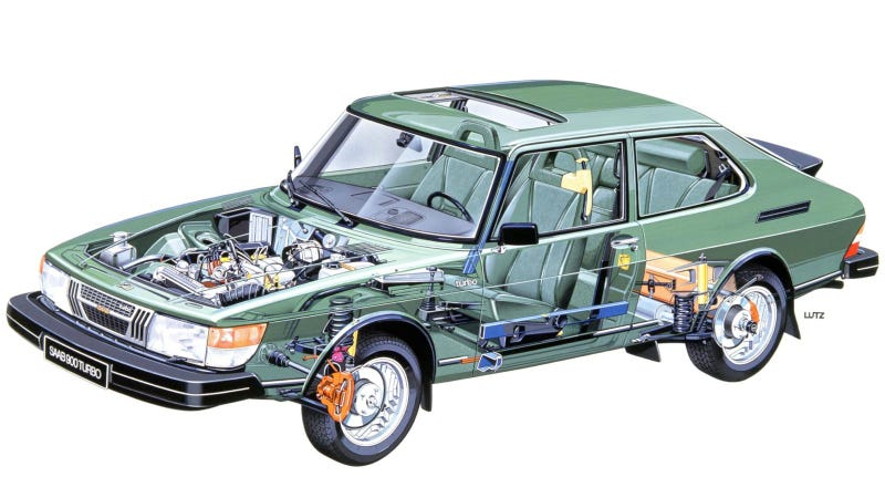 Your Ridiculously Cool Saab 900 Turbo Cutaway Wallpaper Is Here