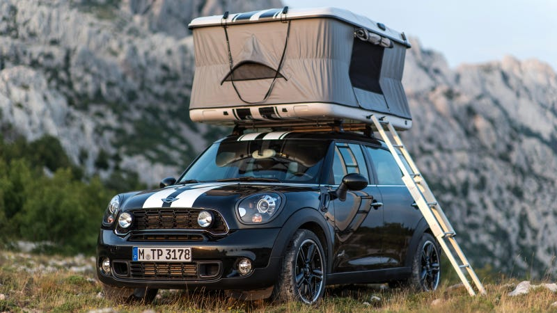 Mini Thinks It Would Be Lots Of Fun To Sleep In Its Cars