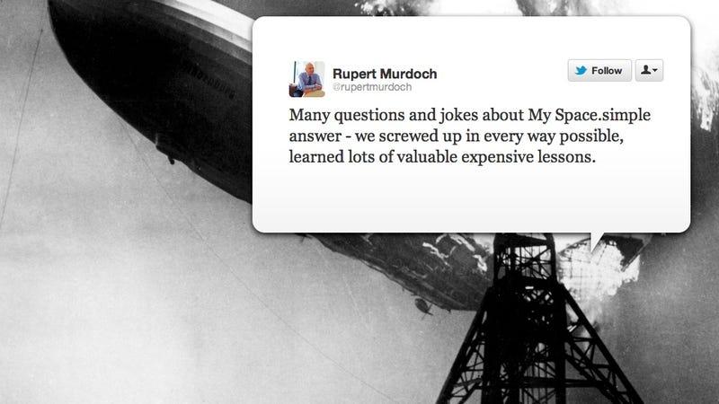 "Rupert Murdoch Admits He Screwed Up MySpace ""In Every Way"""