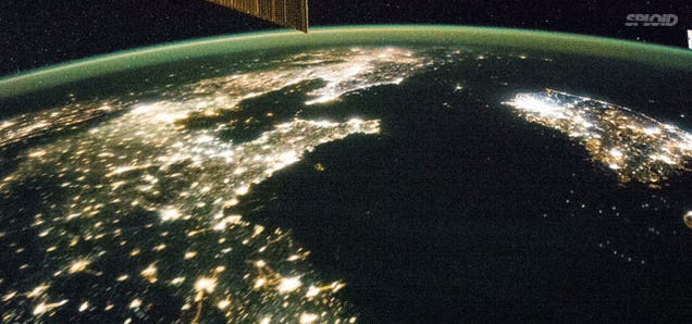 The shocking contrast between the two Koreas as seen from space