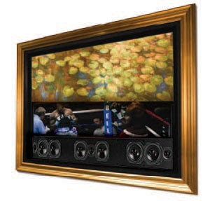 VisionArt Hides Flat Panel TVs and Speakers Behind Fine Art For Classy Consumers