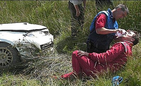 Fifth Gear's Tiff Needell, Actor John Barrowman, Survive Terrifying 80 MPH Crash