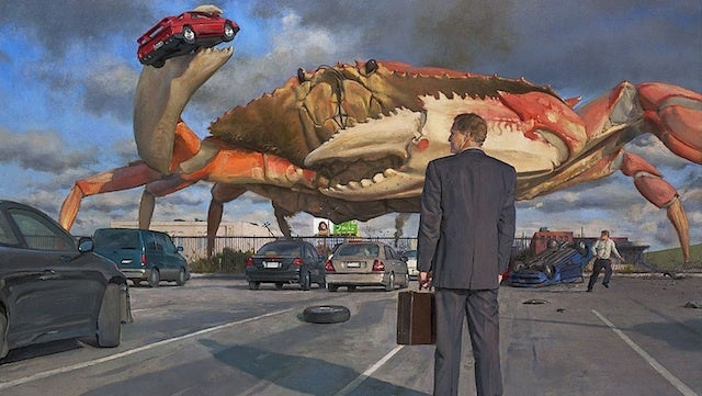 Concept Art Writing Prompt: A Giant Crab Invades the Office Parking Lot