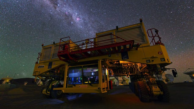 Look at This Monstrous Moving Machine Illuminated By Starlight