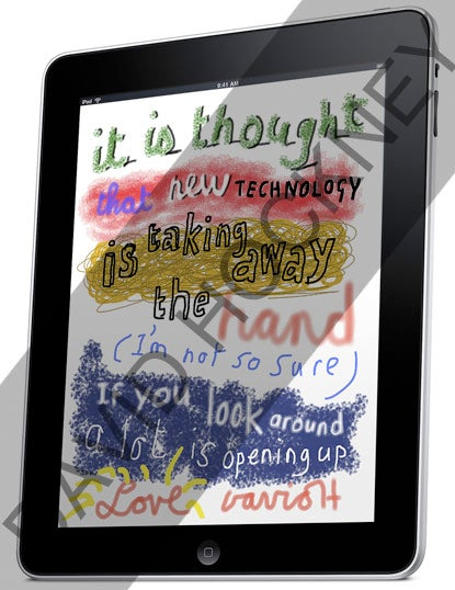 Famous Pop Artist David Hockney's New Paintbrush Is The iPad
