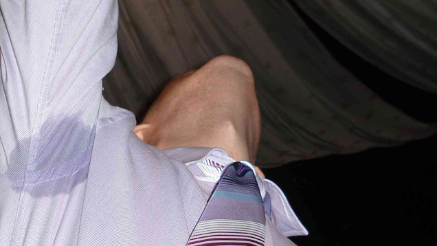 Stop sweat stains from ruining your shirts with a little for How to prevent sweat marks on shirts