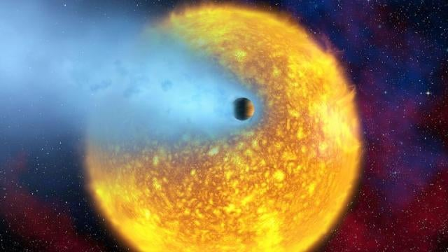 Mercury-sized exoplanet is being vaporized into a cloud of gas