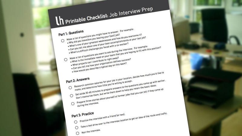 Print This Checklist to Better Prepare for Your Next Job Interview