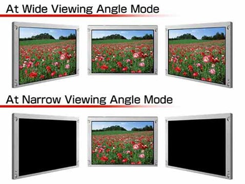 New LCD Display From NEC Can Switch Between Wide and Narrow Viewing Angles