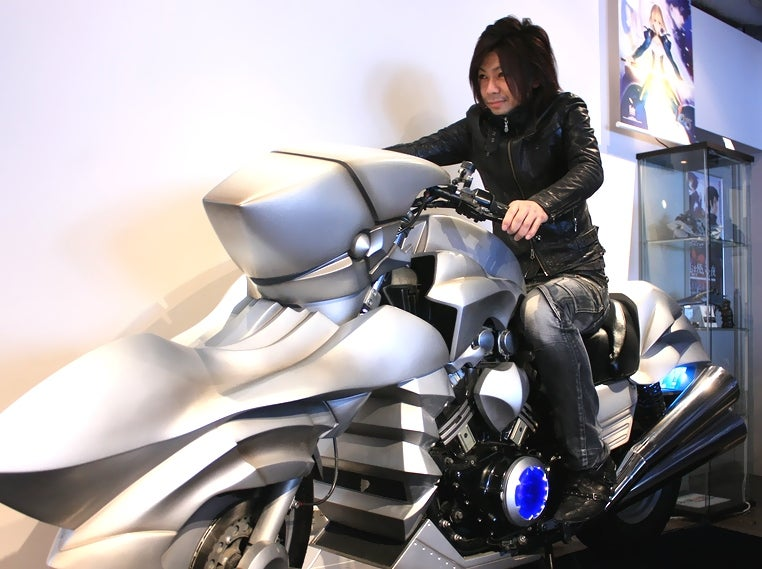 How Badass Is This Life-Sized Anime Motorcycle? Totally Badass.