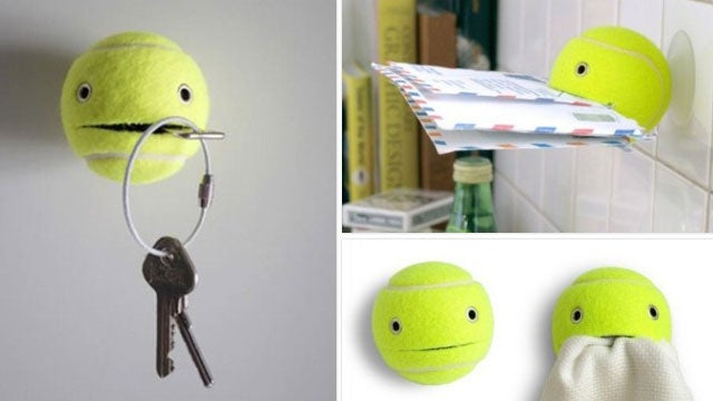 Use Tennis Balls to Hold Just About Any Small Item Around the House (and Be Extremely Cute)