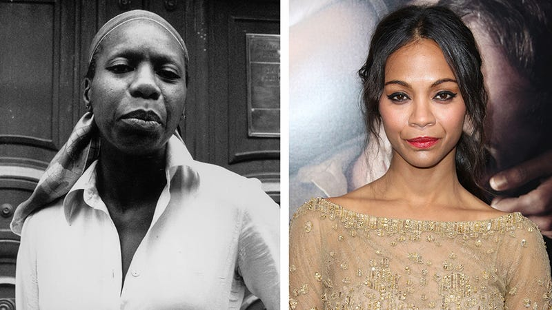 Zoe Saldana Gets Dark Makeup, Prosthetic Nose to Play Nina Simone