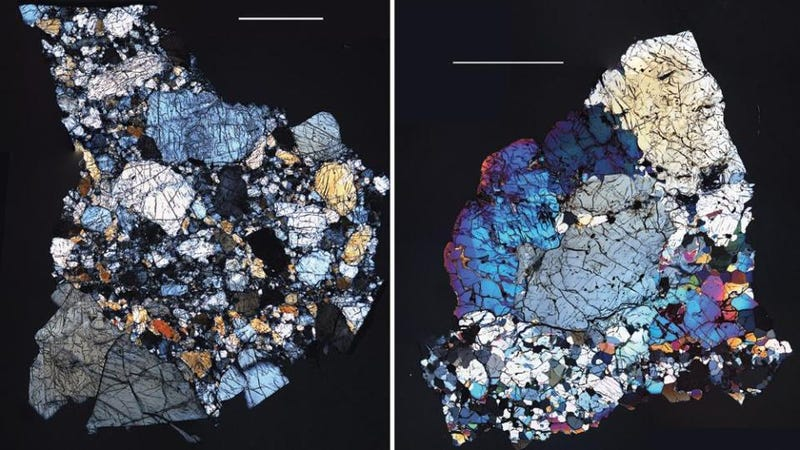 Where in the solar system do these colorful meteorites come from?