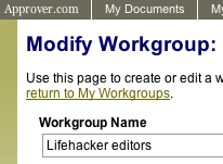 Approver.com collaborator adds workgroups