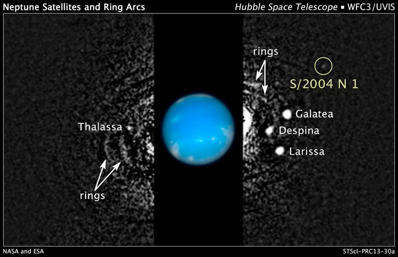 Hubble has spotted a previously undiscovered moon orbiting Neptune