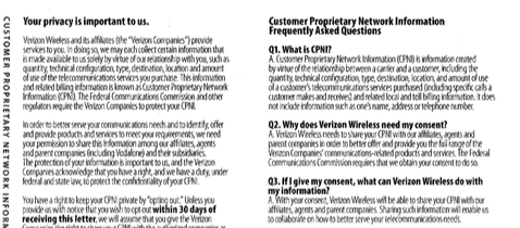 Verizon Shares Your Call Data Unless You Opt-Out