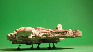 This stunning Millennium Falcon model is made out of old Cardboard