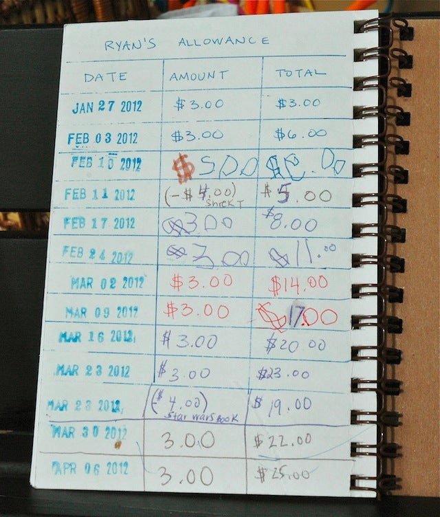 "Use This ""Bank Ledger"" to Manage Your Kids' Allowance"