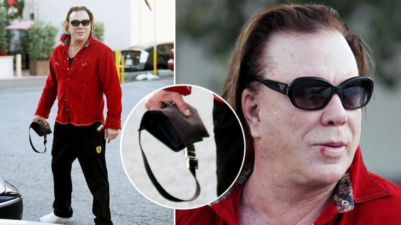 Mickey Rourke's Man Purse: A Bold Fashion Choice for Gross Gym Rats