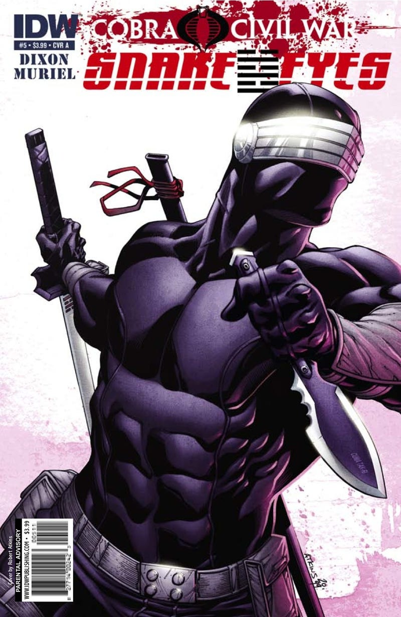 Read a seven-page preview of the newest comic book starring Snake Eyes, G.I. Joe's resident ninja